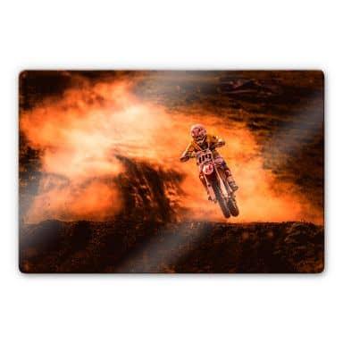 Glasbild Igor - Motorcross