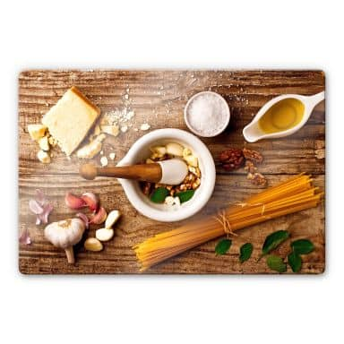 Glasbild Laercio - Pesto Rezept