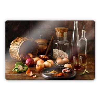 Glasbild Laercio - Ungarische Küche