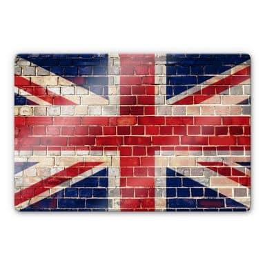 Union Jack Wall Glass art