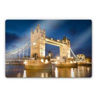Tableau en verre - Tower Bridge in London