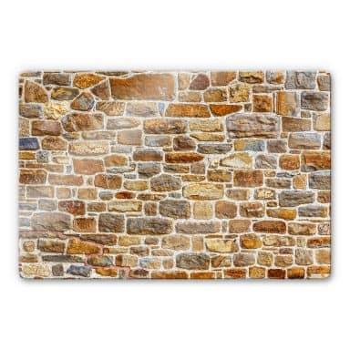 Arizona Stone Wall Glass art