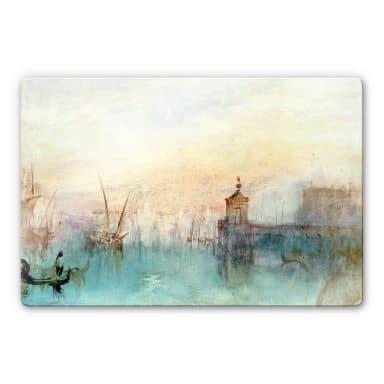 Glasbild Turner - Venedig mit erster Mondsichel