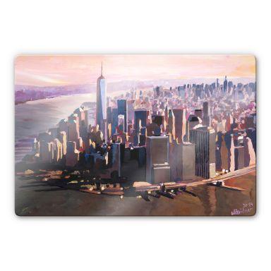 Tableau en verre - Bleichner - Manhattan Freedom