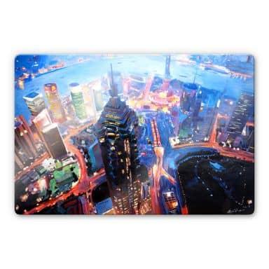 Glasbild Bleichner - Shanghai