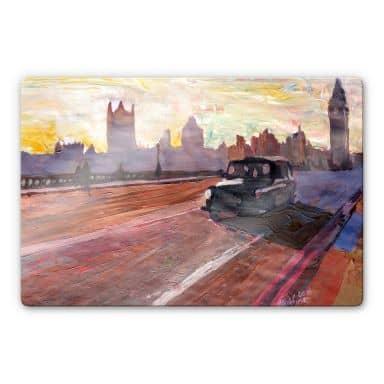 Tableau en verre - Bleichner - Londres au crépuscule