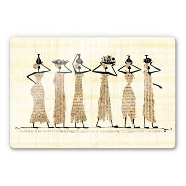 Glasbild Ägyptische Frauen