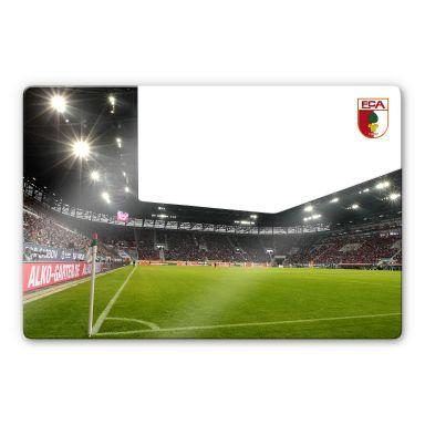 Glasbild FC Augsburg Stadion Eckfahne
