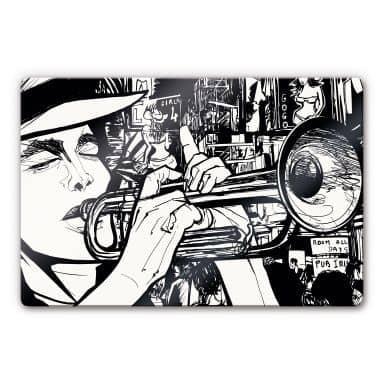Glasbild Sound of a Street Musician