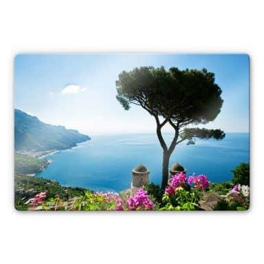 Glasbild Blick auf die Amalfiküste