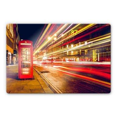 Glasbild London City Lights