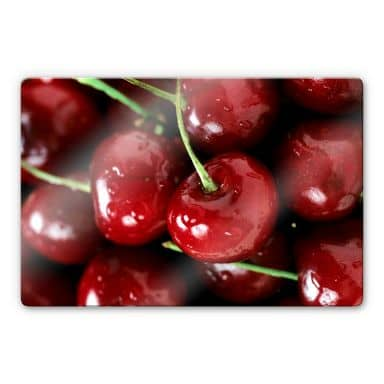 Glasbild Cherry