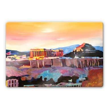 Glasbild Bleichner - Akropolis in Athen
