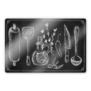 Rustic Kitchen Glass art