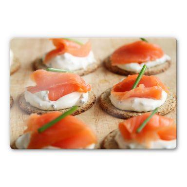 Glasbild Salmon Appetizer