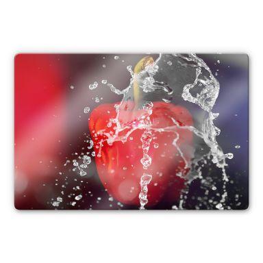 Glasbild Frische Paprika