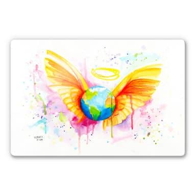 Glasbild Buttafly - Angel
