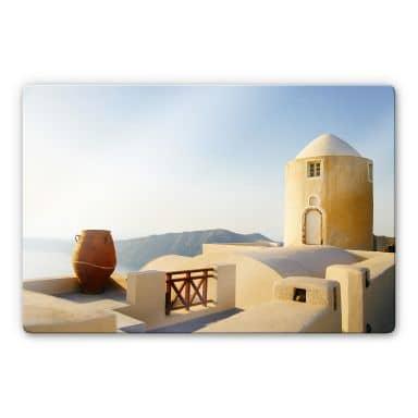Glasbild Mediterrane Aussicht