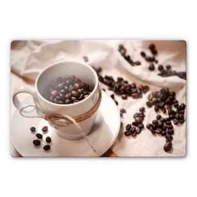 Glasbild Kaffee Zauber