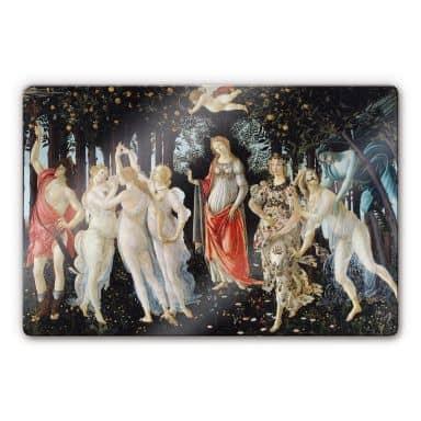 Glasbild Botticelli - Der Frühling