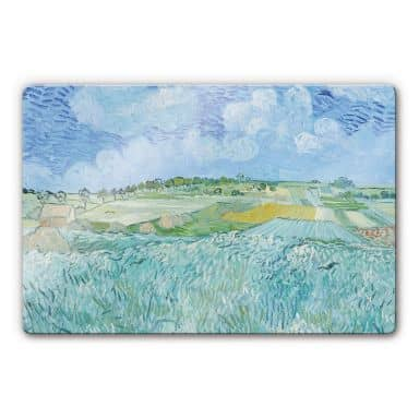 Vincent van Gogh - Plain near Auvers Glass art