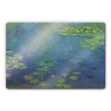 Monet - Water Lily Pond Glass art