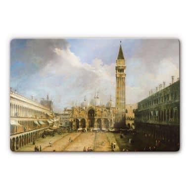 Glasbild Canaletto - Die Piazza San Marco