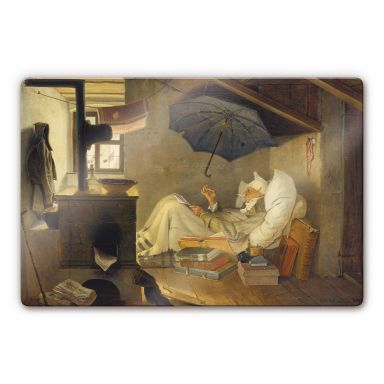 Tableau en verre - Spitzweg - Le pauvre poète