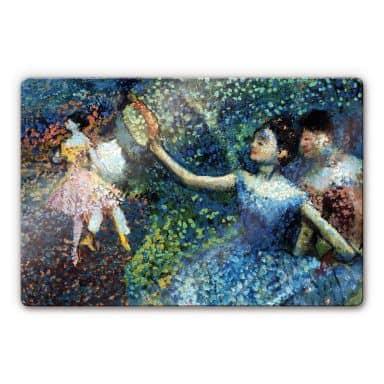 Glasbild Degas - Tänzerin mit Tambourin