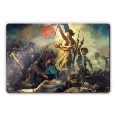 Glasbild Delacroix - Die Freiheit führt das Volk