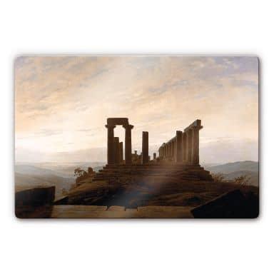 Glasbild Friedrich -  Der Junotempel in Agrigent