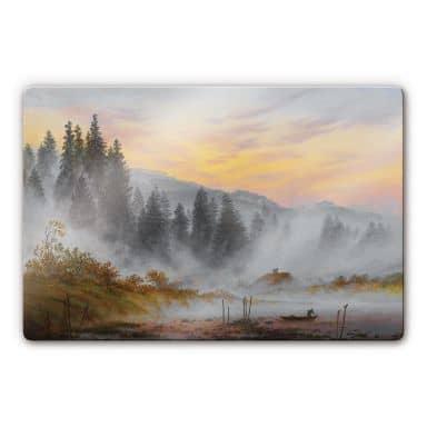 Glasbild Friedrich - Der Morgen