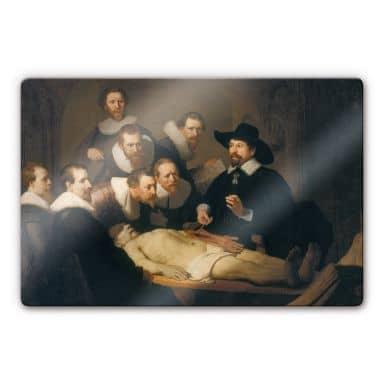 Glasbild Rembrandt - Die Anatomiestunde