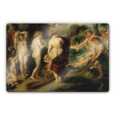 Rubens - The Judgement of Paris Glass art