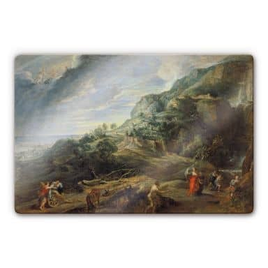 Rubens - Odysseus on the Feaci Island Glass art
