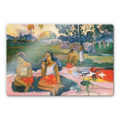 Glasbild Gauguin - Die wunderbare Quelle