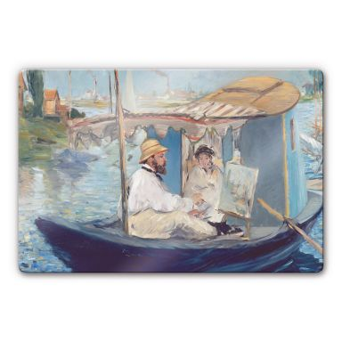 Glasbild Manet - Die Barke