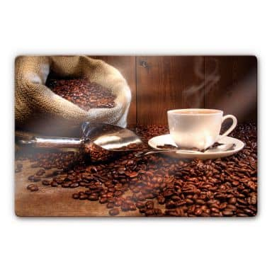 Coffee pleasure Glass art