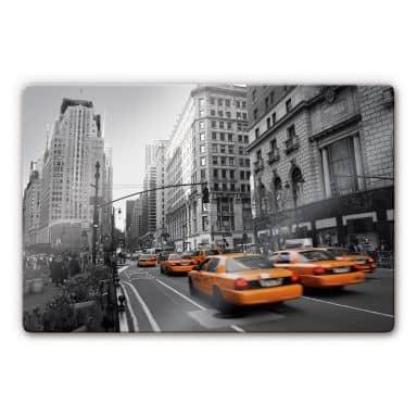 Glasbild Cabs in Manhattan