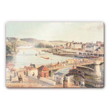 Glasschilderijen Camille Pissarro - Een zonnige namiddag in Rouen