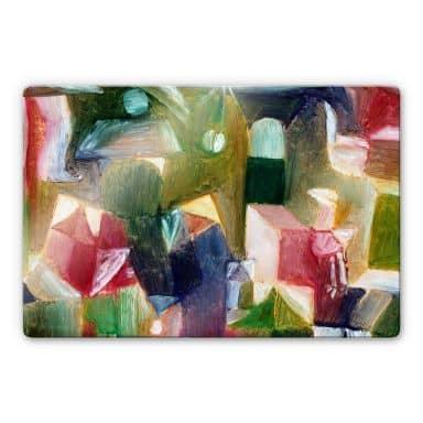 Glasbild Klee - Vogelbild