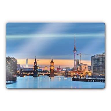 Glasbild Oberbaumbrücke Berlin