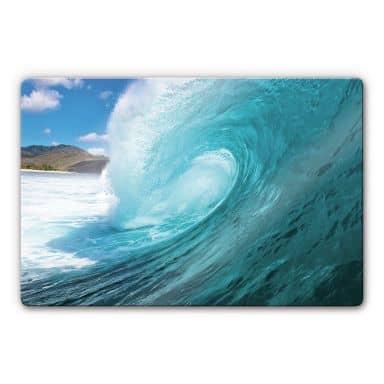 Glasbild Welle