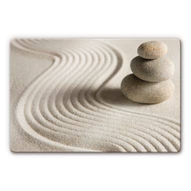 Stone in Sand 2 Glass art