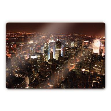 Glasbild Manhattan