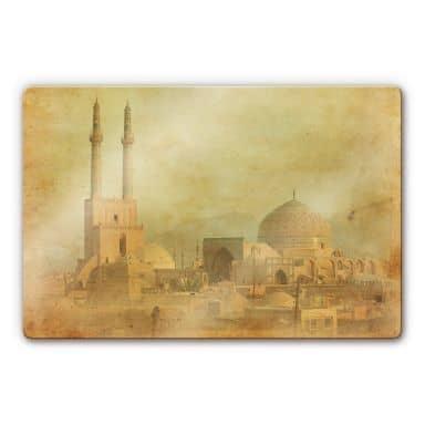 Glasbild Moschee