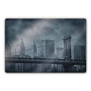 Glasbild New York Bridge