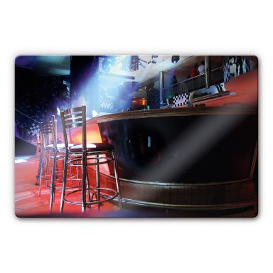 Glasbild Partyroom