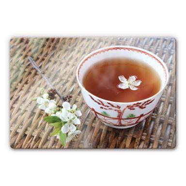 Glasbild Teatime