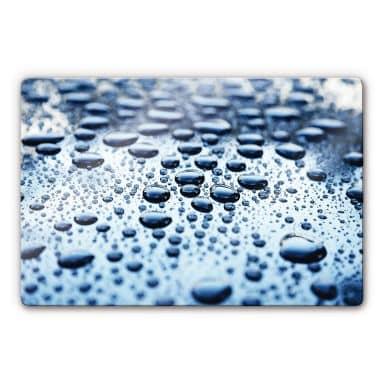 Glasbild Waterdrops